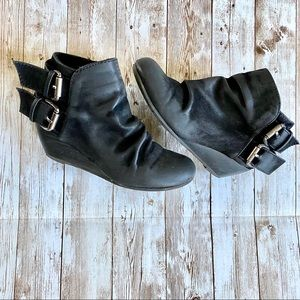 GIRLS size 12 Ankle booties black zipper